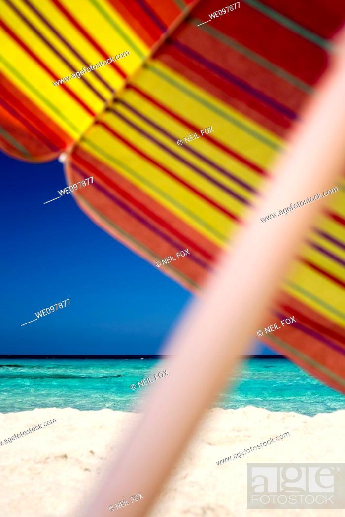 Stock Photo: Sun Umbrella, Beach.