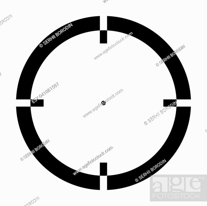 Stock Vector: Sight it is the black color icon .