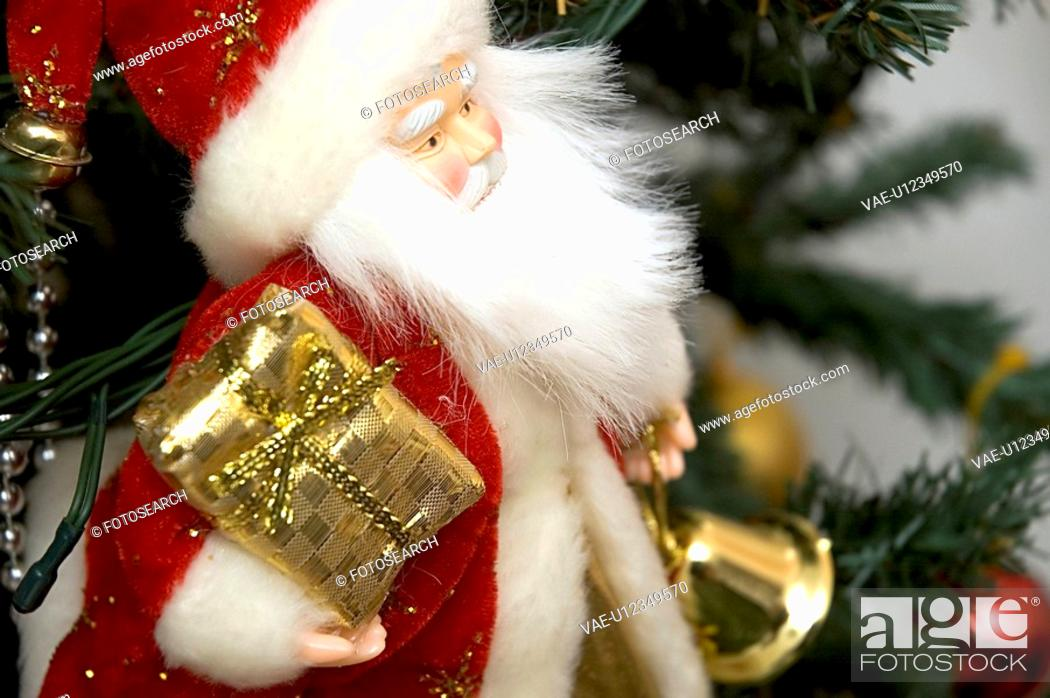 Stock Photo: Father Christmas, red, magic, gift, present, holidays.