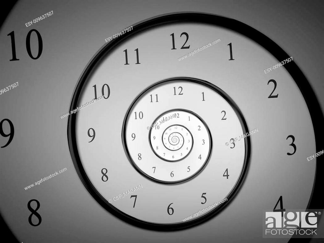 Stock Photo: time spiral.