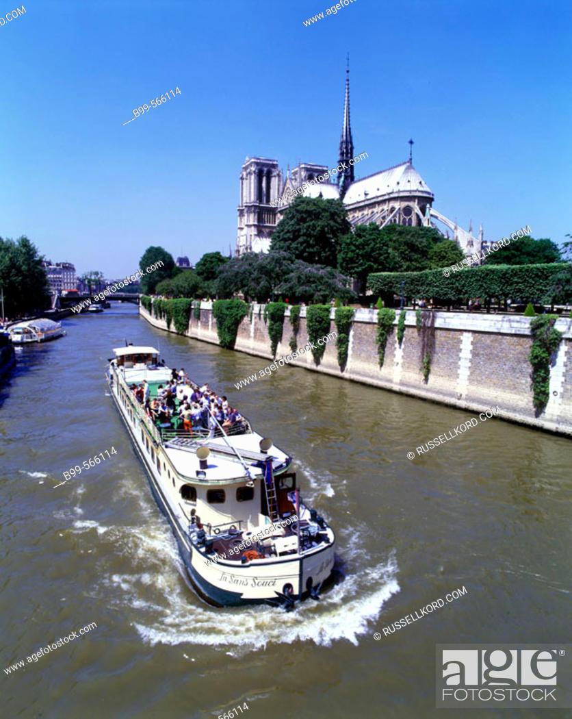 Imagen: Notre Dame, Île De La Cité, Seine River. Paris, France.
