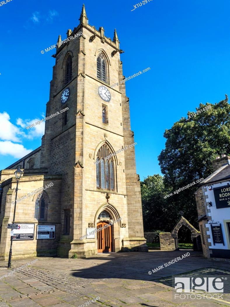 Stock Photo: Keighley Shared Church on Church Street Keighley West Yorkshire England.