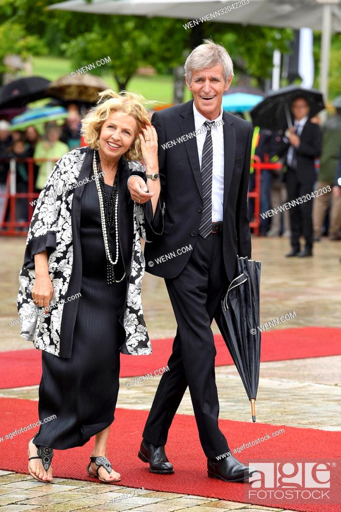 Stock Photo: Bayreuther Richard Wagner Festspiele Eroeffnung (Bayreuth Festival Opening) at Festspielhaus theater. Featuring: Michaela May, Bernd Schadewald Where: Bayreuth.