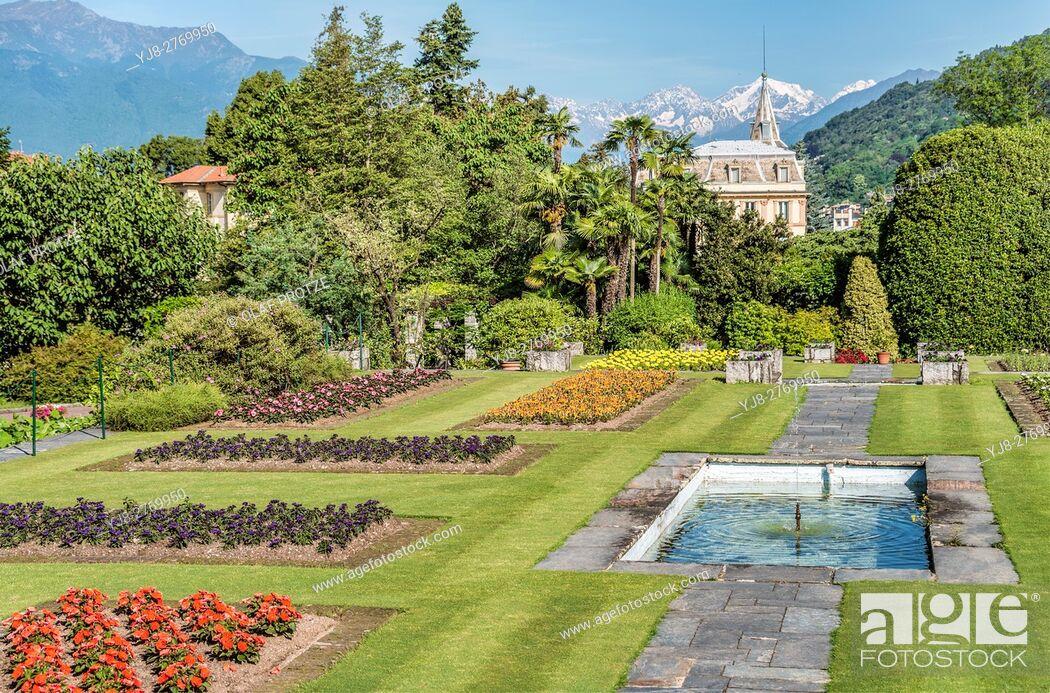 Stock Photo: Garden of Villa Taranto at Lago Maggiore, Pallanza, Piemont, Italy | Garten der Villa Taranto am Lago Maggiore, Pallanza, Piemont, Italien.