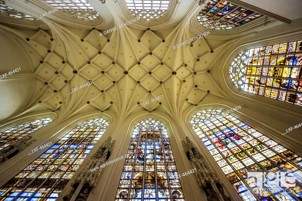 Photo de stock: Vault, Cathedral of St. Michael and St. Gudula, Brussels, Belgium.