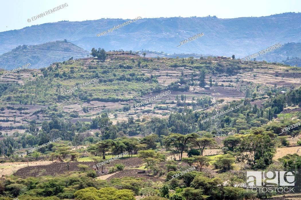 Stock Photo: The countryside of Debre Berhan, Ethiopia.
