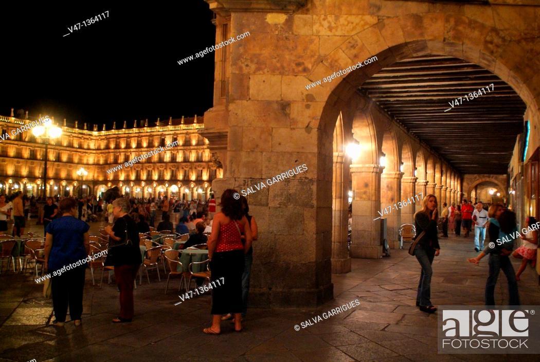 Stock Photo: Plaza Mayor, Salamanca, Spain.