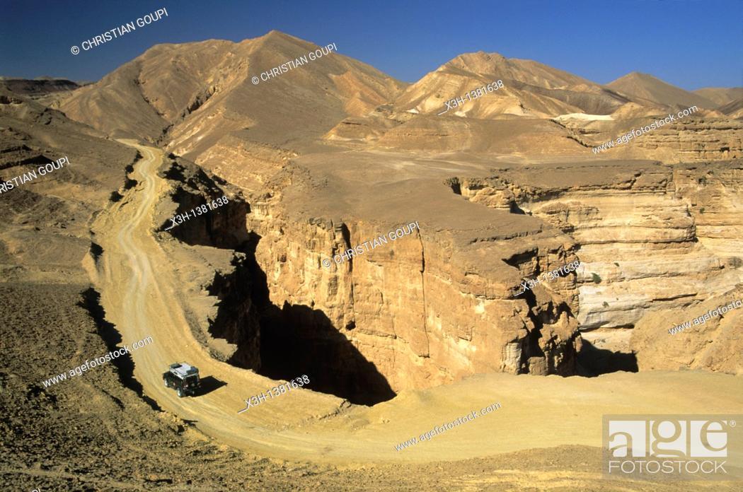Stock Photo: Wadi Etek canyon, Negev, Israel, Middle East, Western Asia.