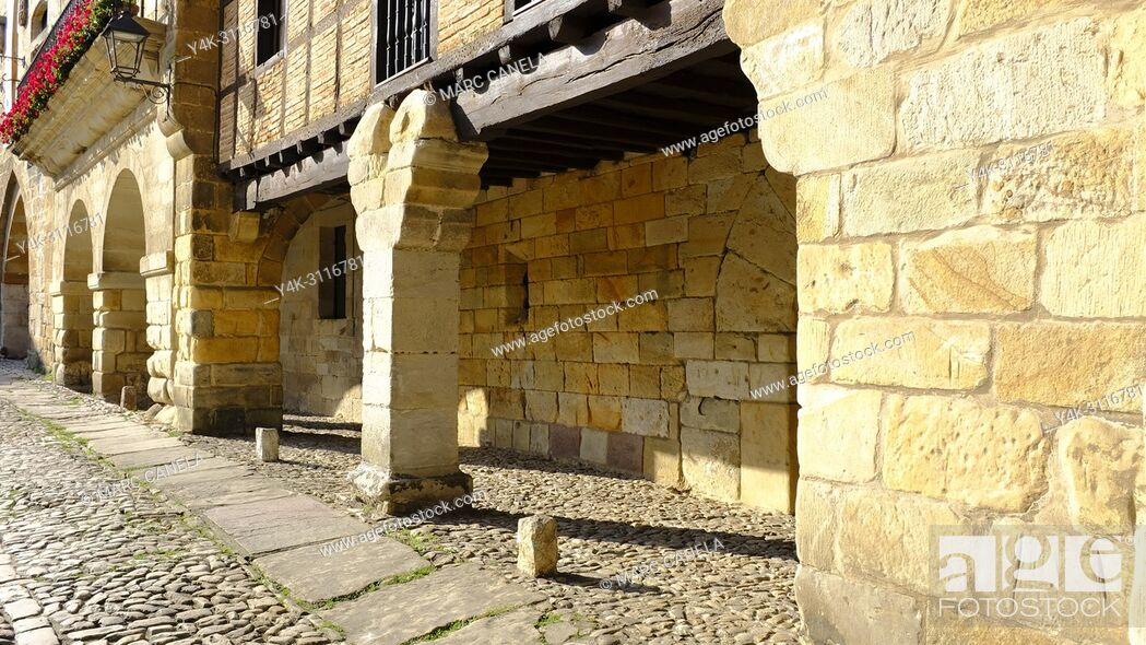 Stock Photo: Santillana del mar, Cantabria, Spain, Europe.
