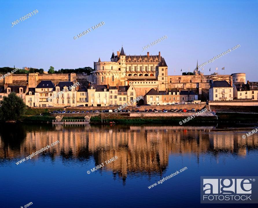 Stock Photo: Chateau d'Amboise, Amboise, France.