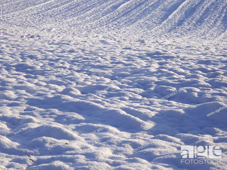 Stock Photo: Snow furrows.