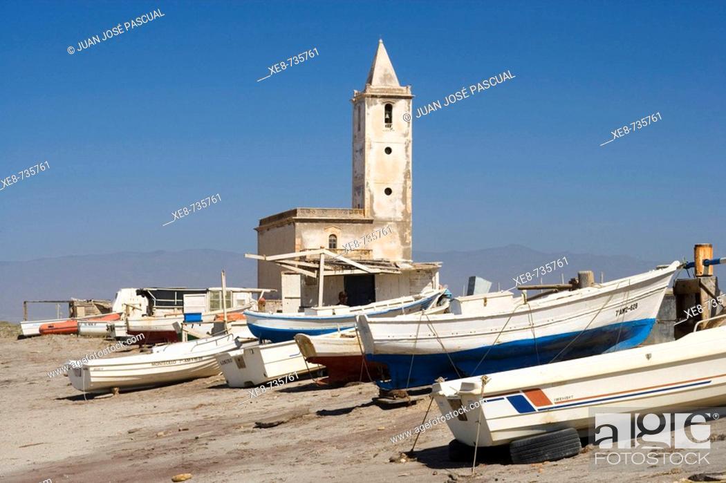 Stock Photo: Almadraba de Monteleva, Cabo de Gata. Almeria province, Andalucia, Spain.