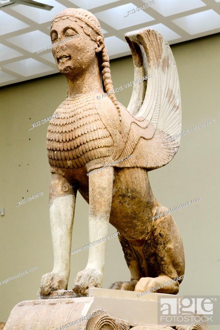 Imagen: The Naxos Sphinx, Delphi Museum, Greece.