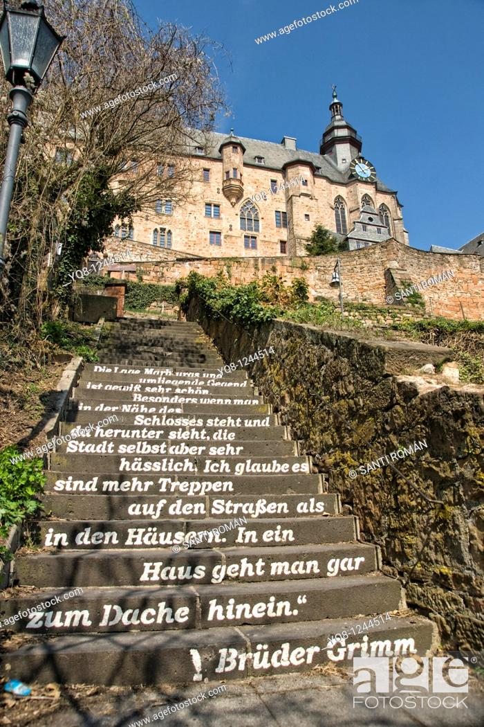 Stock Photo: Landgrafenschloss castle, university museum of cultural history, Marburg, Hesse, Germany.
