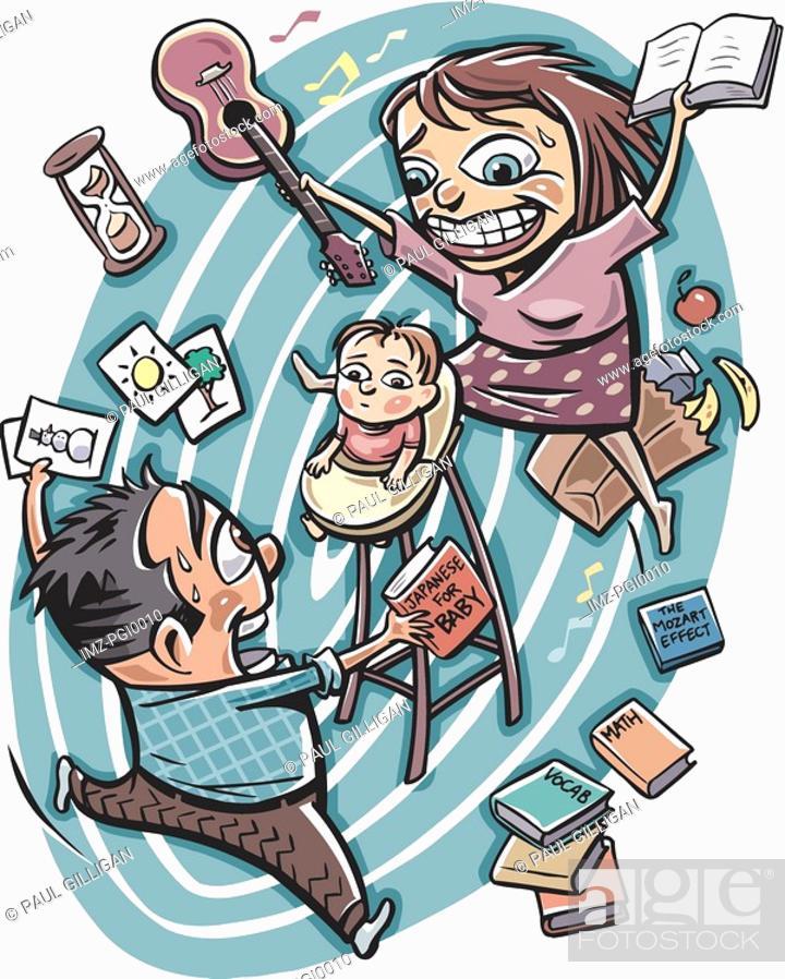 Stock Photo: Teaching baby.