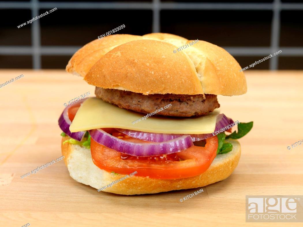 Stock Photo: Hamburger.
