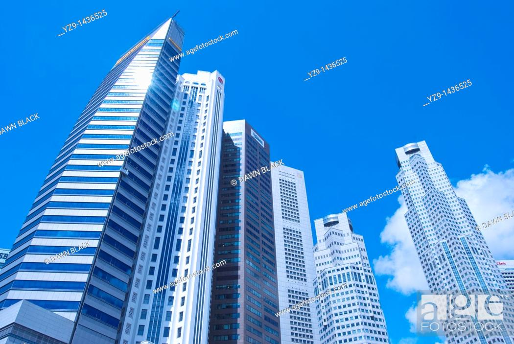 Stock Photo: Singapore Central Business District.