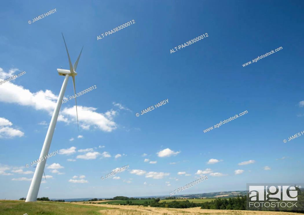 Stock Photo: Wind turbine, Normandy, France.