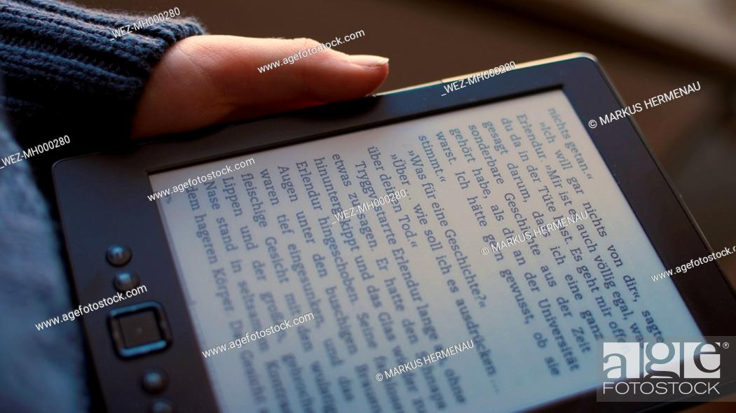 Little Boy With Ereader Studio Shot Stock Photo Picture