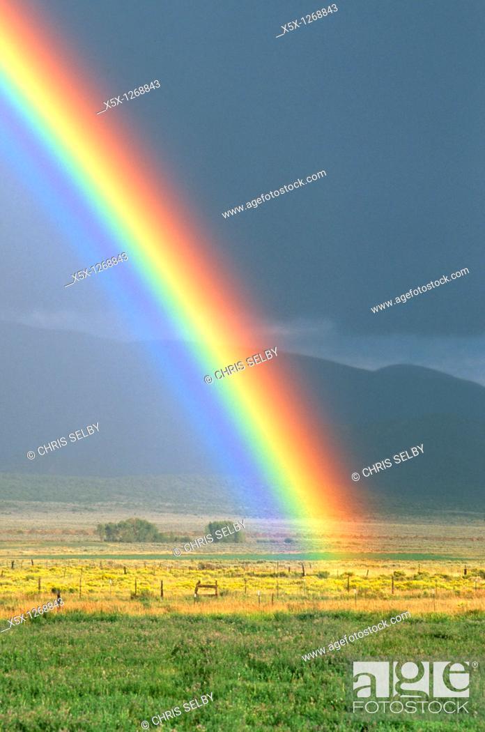Stock Photo: Rainbow, Colorado Rocky mountains.