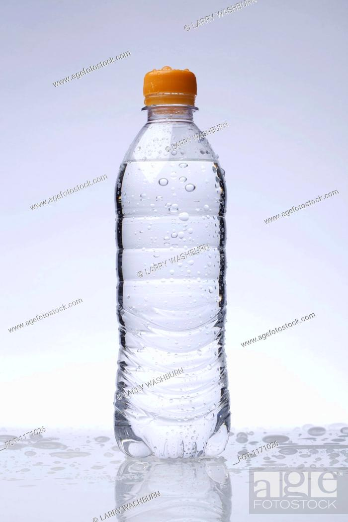 Stock Photo: A full plastic water bottle.