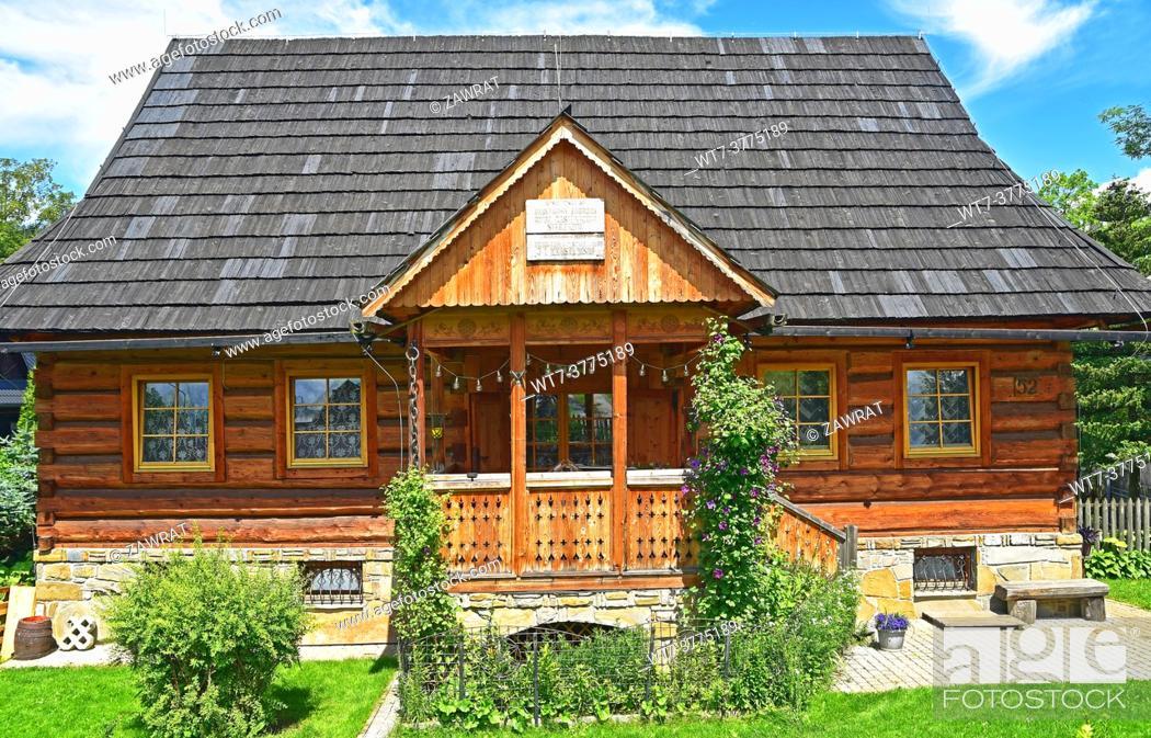 Stock Photo: Historic house at Koscieliska street.