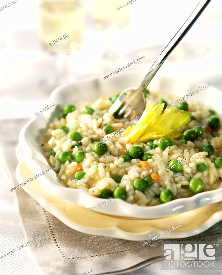 Stock Photo: Pea risotto.