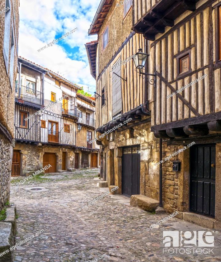 Imagen: Calle típical. La Alberca. Sierra de Francia. Salamanca. Castilla León. España.