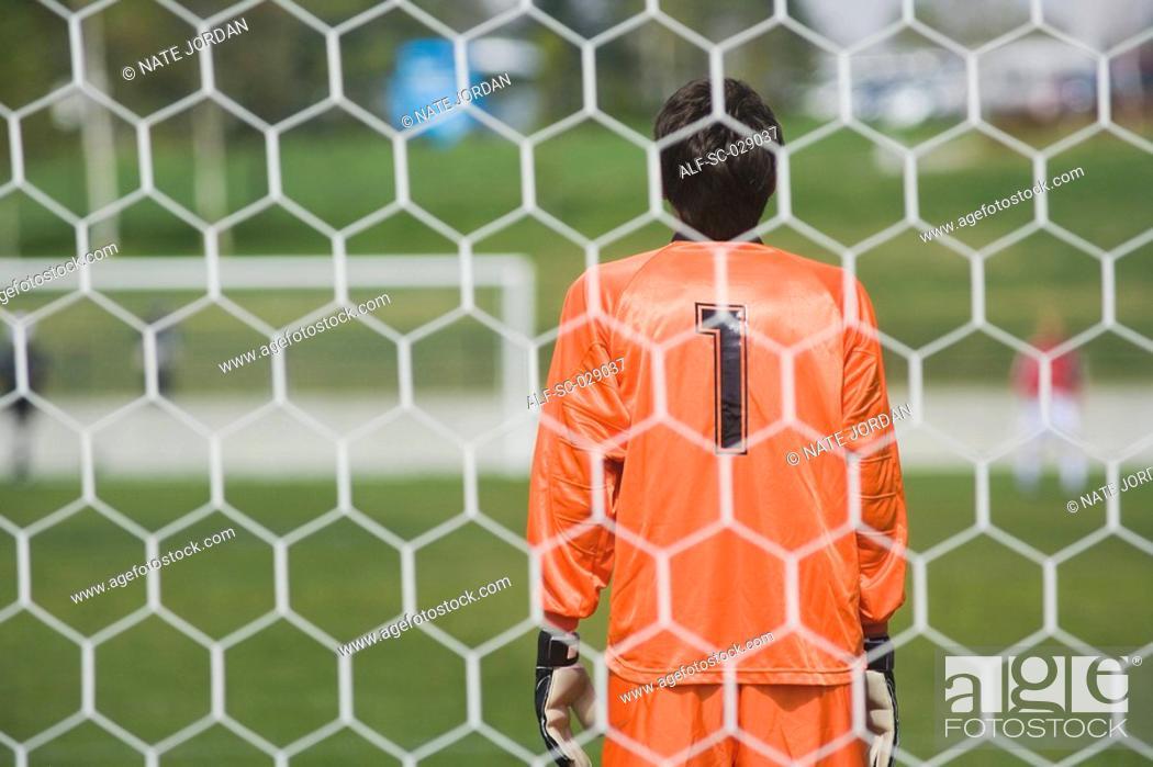 Stock Photo: Goalkeeper.