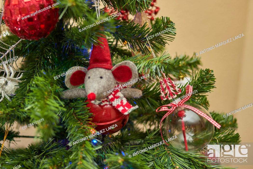 Stock Photo: christmas tree christmas tree decoration closeup.