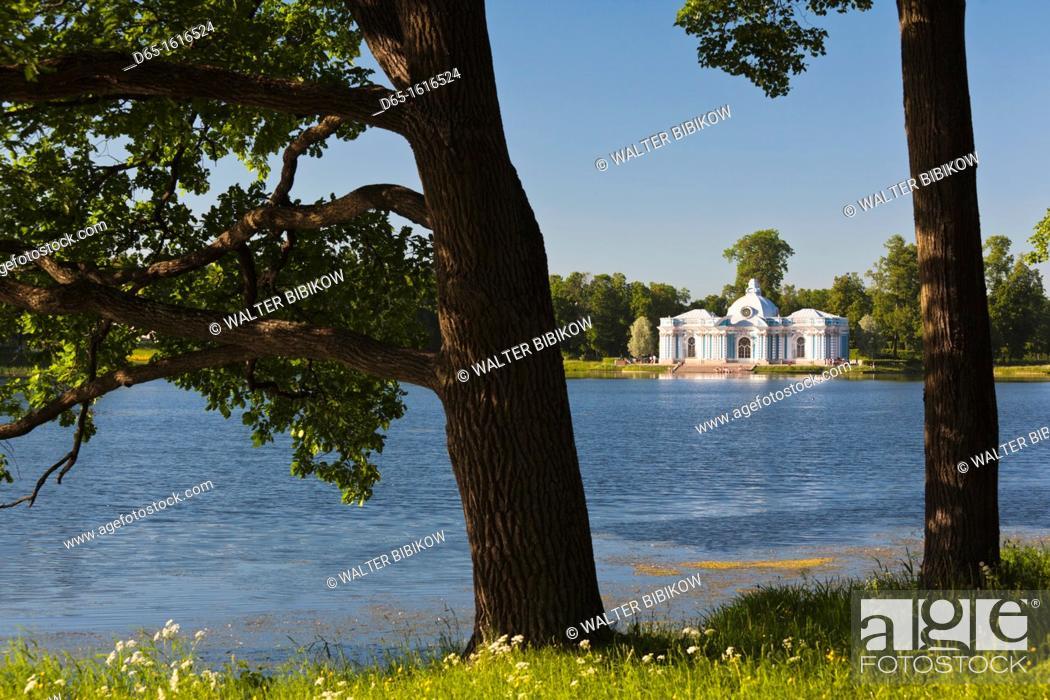 Stock Photo: Russia, Saint Petersburg, Pushkin-Tsarskoye Selo, Grotto Pavilion.