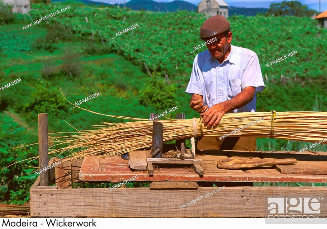 Stock Photo: Madeira - Wickerwork.