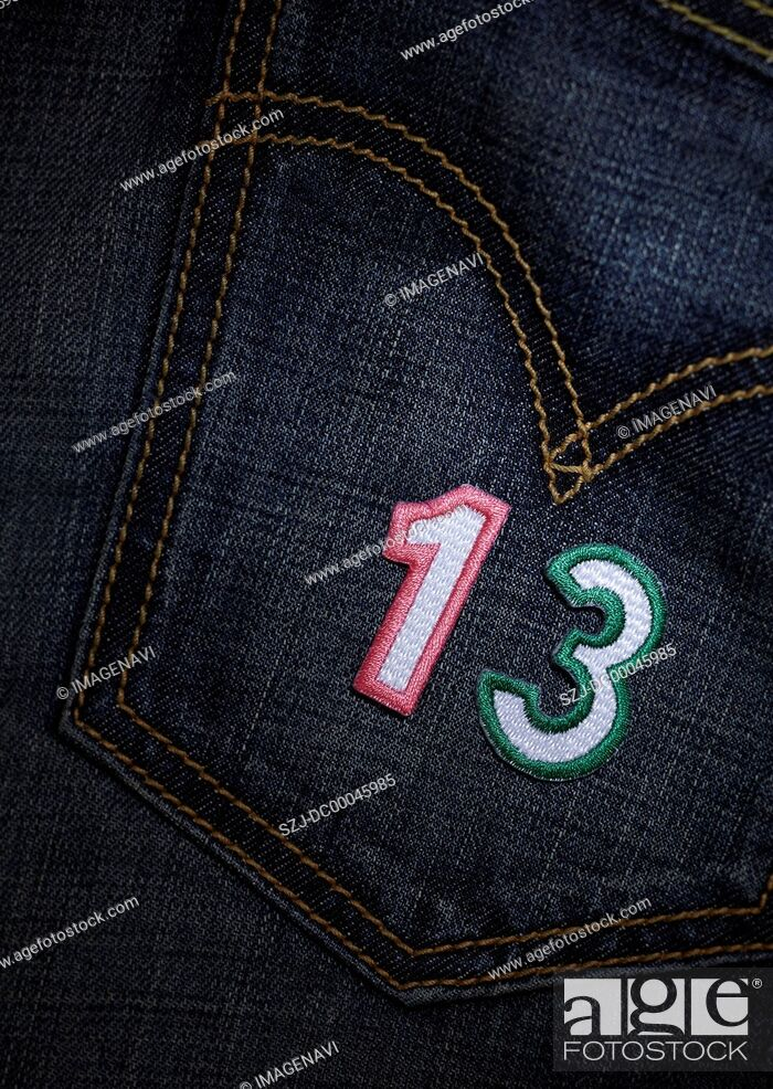 Stock Photo: Number appliques.