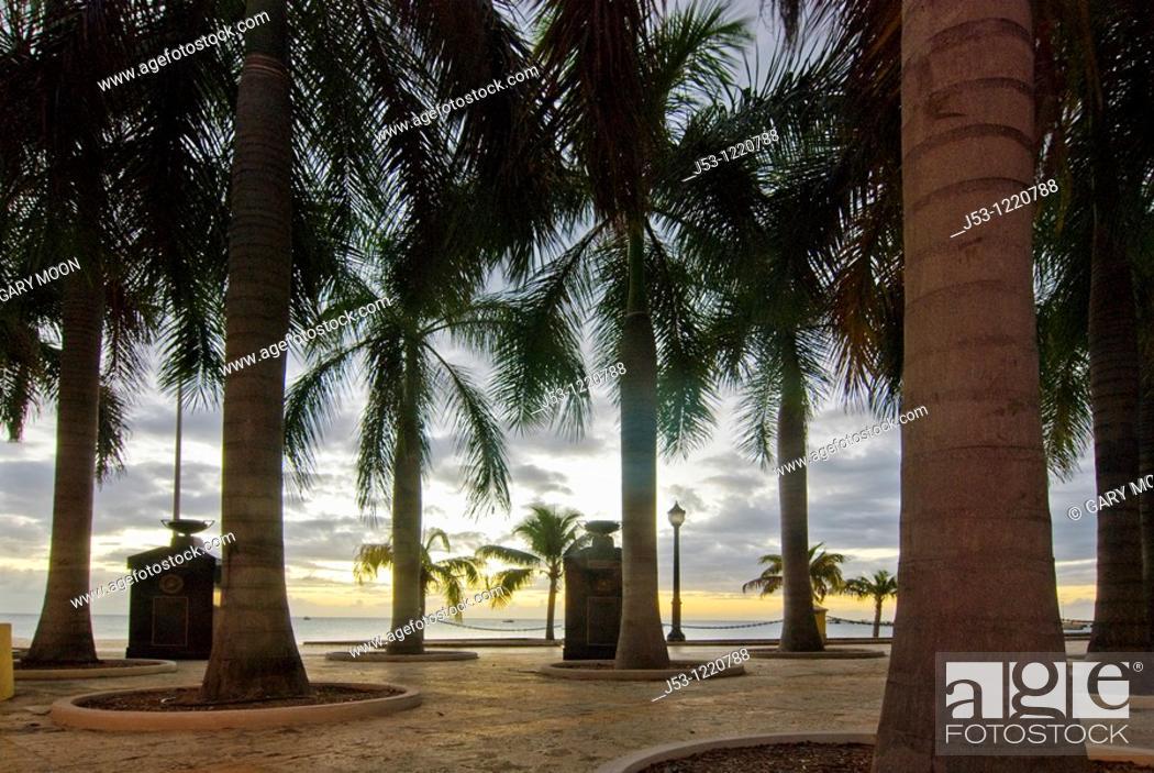 Stock Photo: Public waterfront park, Frederiksted, St Croix, US Virgin Islands.