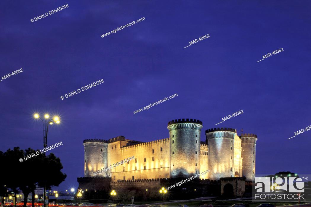 Stock Photo: europe, italy, campania, naples, castel nuovo.