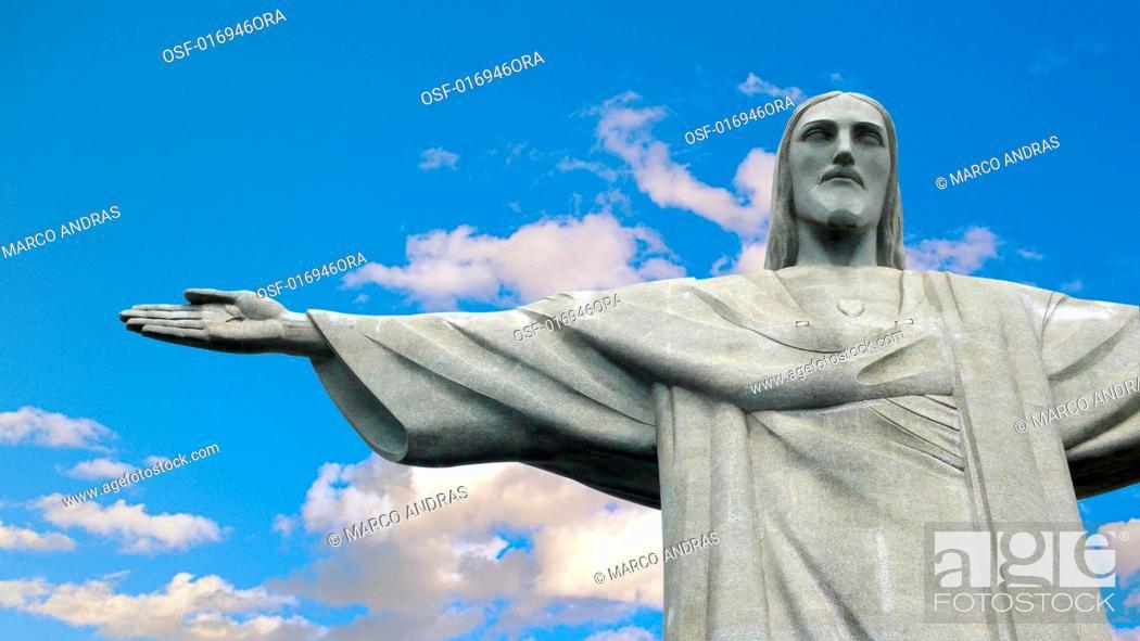 Stock Photo: cristo redentor statue rio de janeiro.