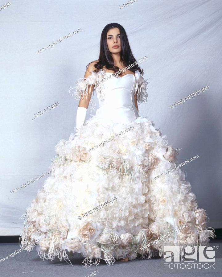 Mietta Wearing A Wedding Dress Italian Actress And Singer Mietta