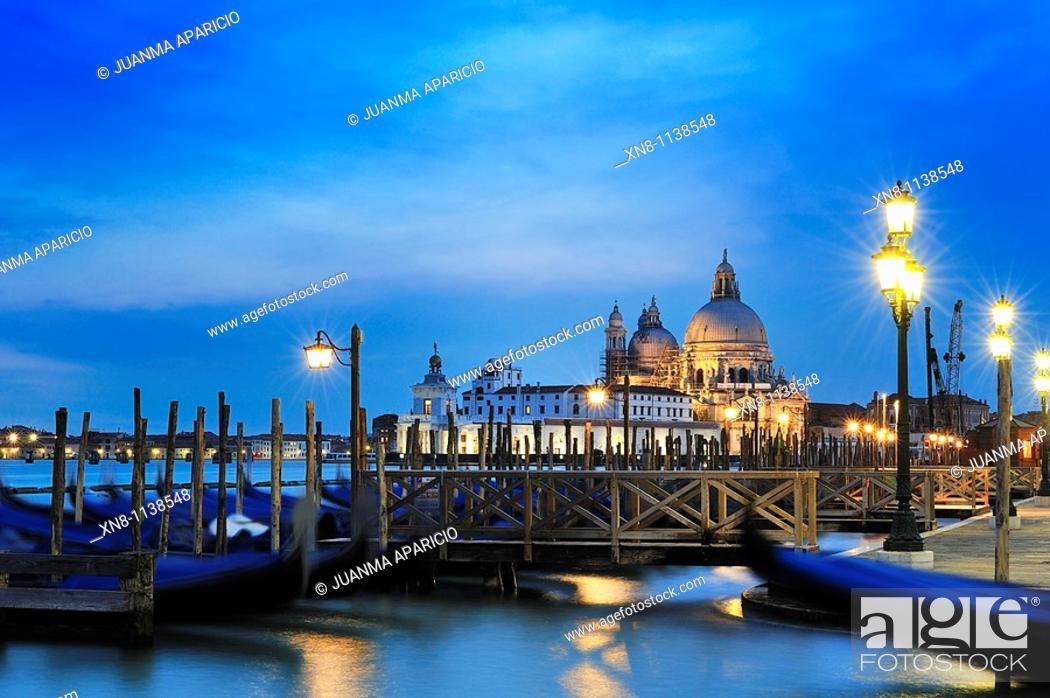 Stock Photo: Night view of Venice.