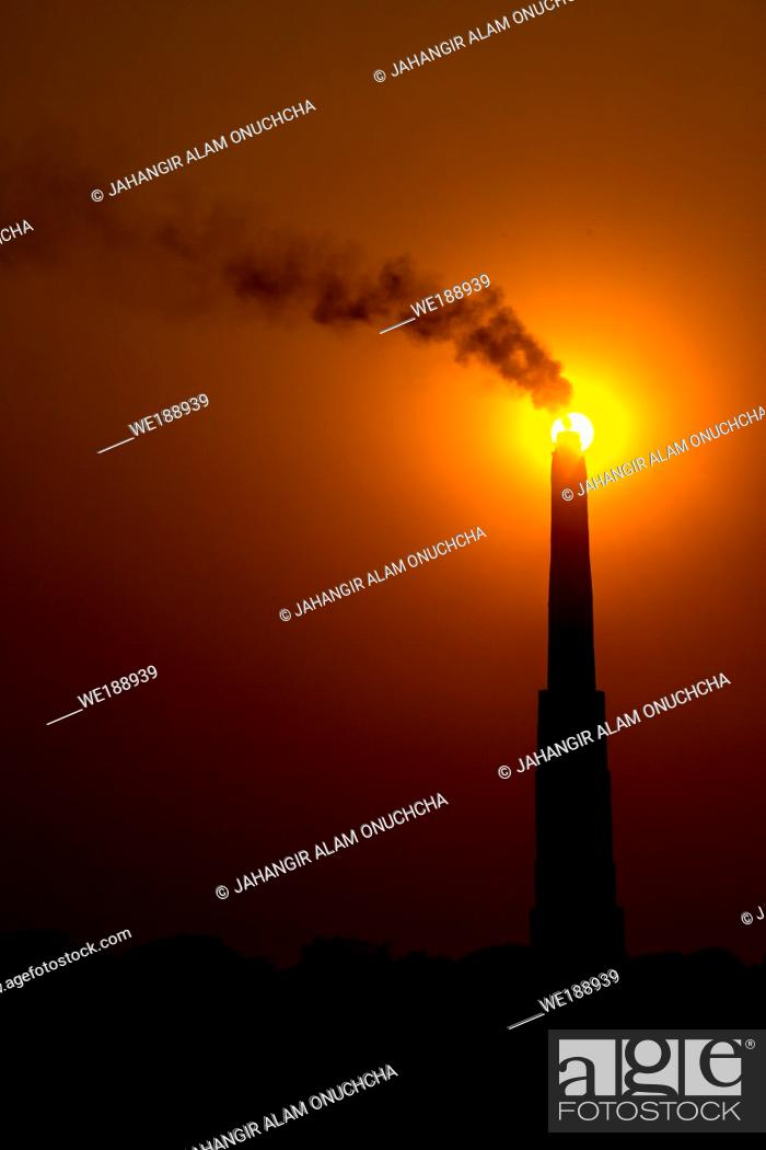Stock Photo: Brick kilns are the leading cause of air pollution in Dhaka city and also Bangladesh.