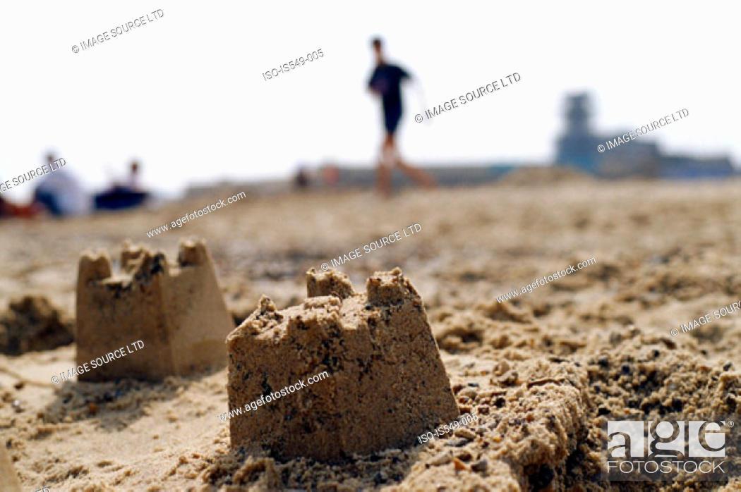 Stock Photo: Sand castle.