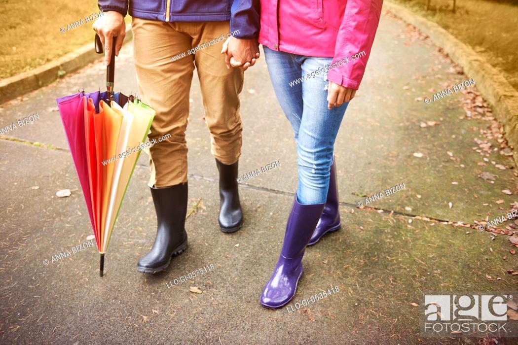 Stock Photo: We are prepared for the autumn weather. Debica, Poland.