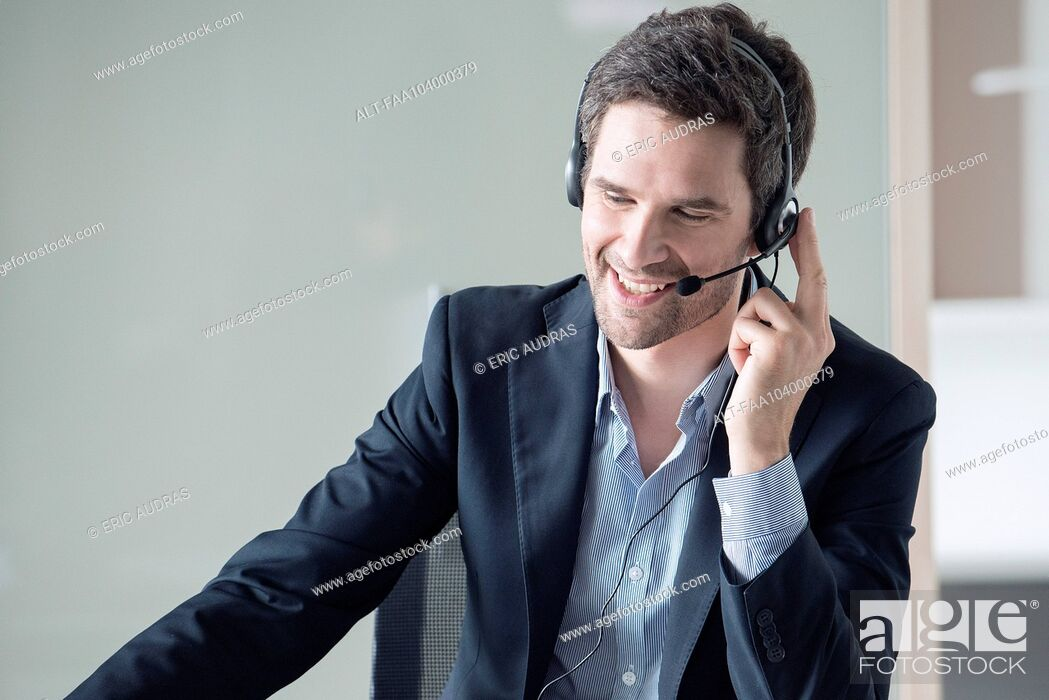 Stock Photo: Businessman on phone call.