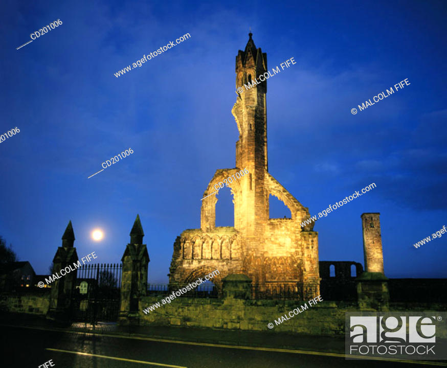 Stock Photo: Cathedral Ruins. St. Andrews. Fife. Scotland.