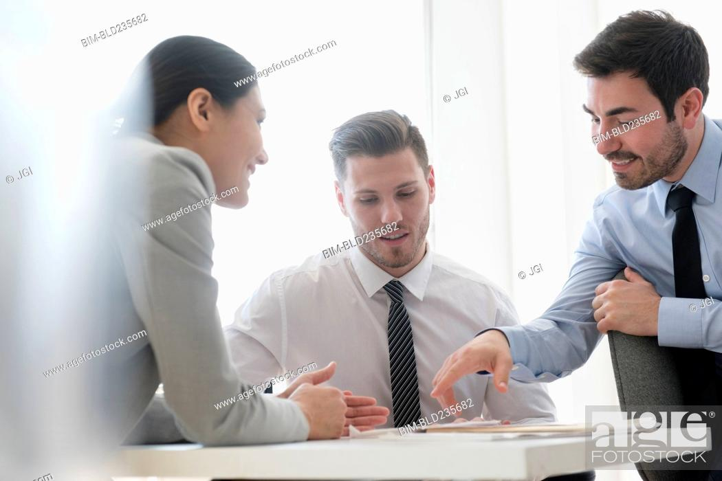 Stock Photo: Business people meeting in office.