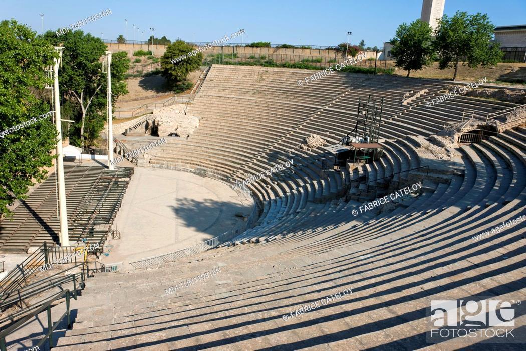Stock Photo: Tunisia - Carthage - Roman theater.
