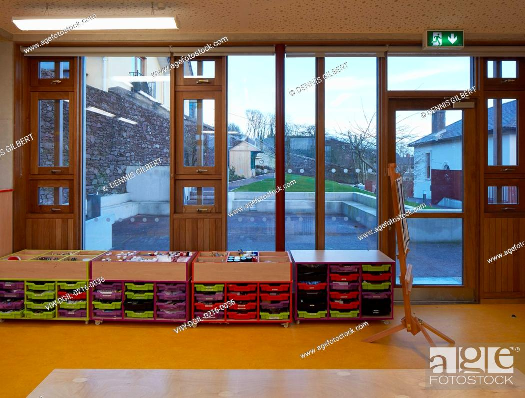 stock photo art room with view towards orchard garden st angelas college cork cork ireland architect odonnell tuomey architects 2016