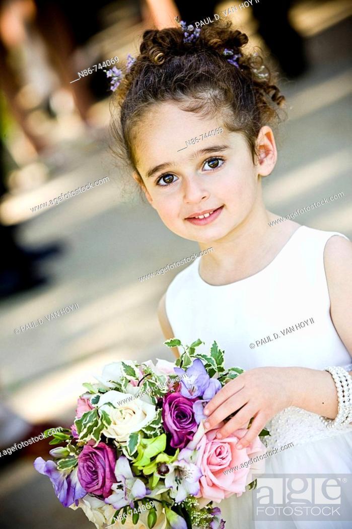 Stock Photo: Young bridesmaid.