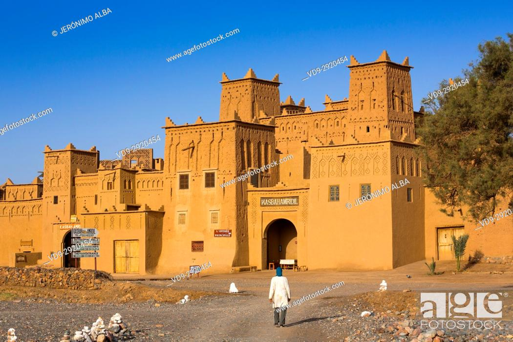 Stock Photo: Hotel Kasbah Amridil, Dades Valley, Skoura. Morocco, Maghreb North Africa.
