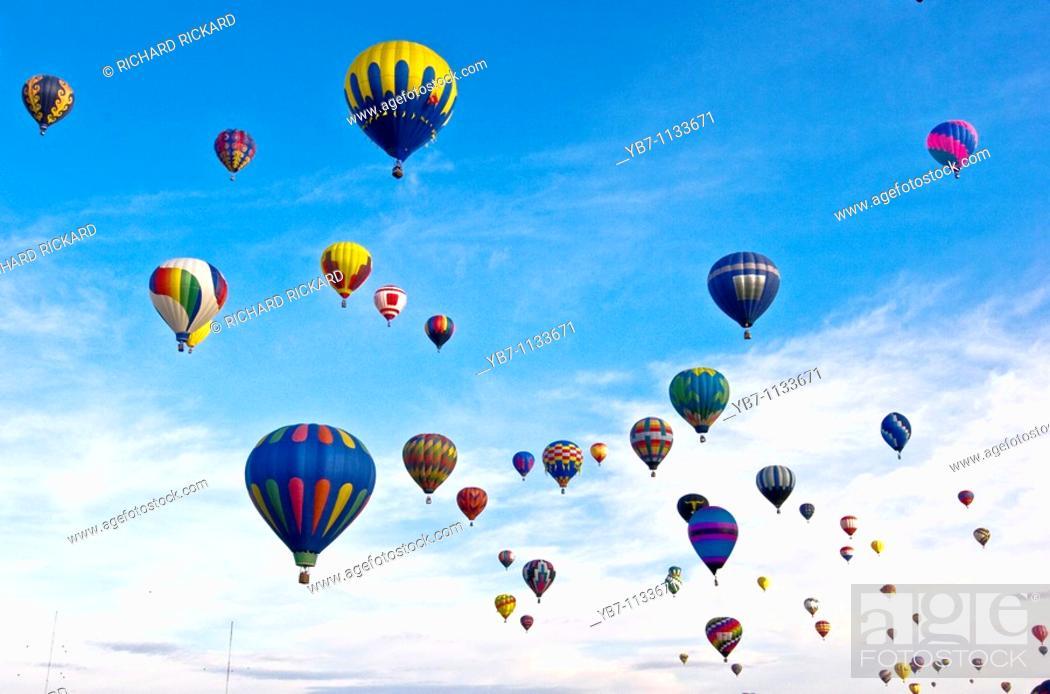 Stock Photo: Balloon Festival  Albuquerque, New Mexico, Usa.