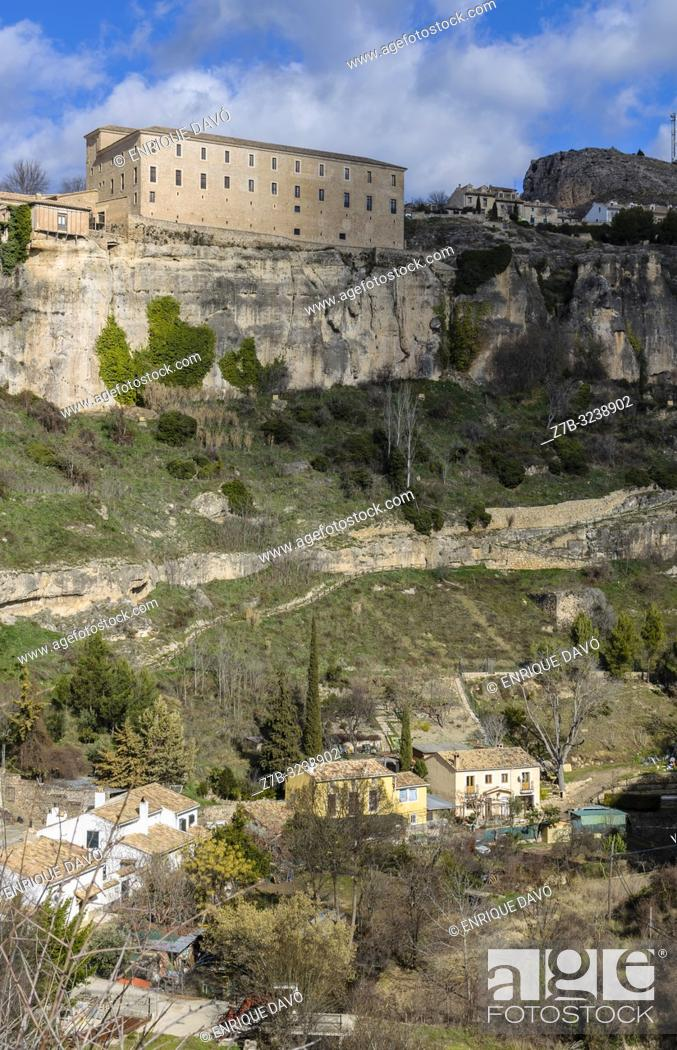 Stock Photo: View of a Dominicos monastery close to Cuenca old town.